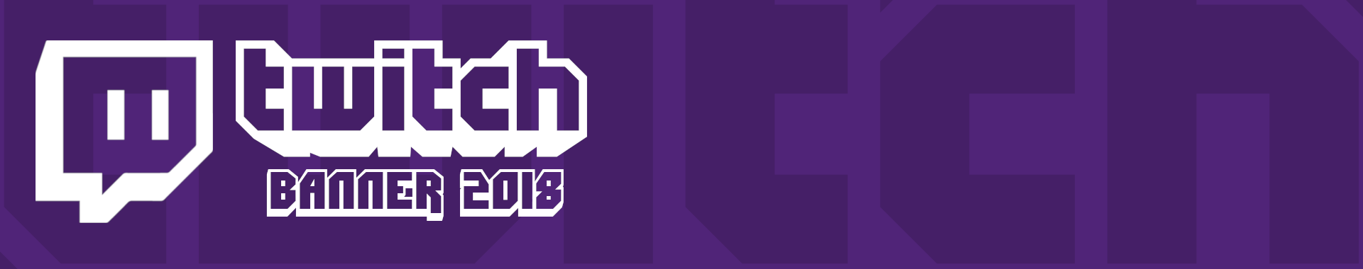 Twitch Banner template 2018